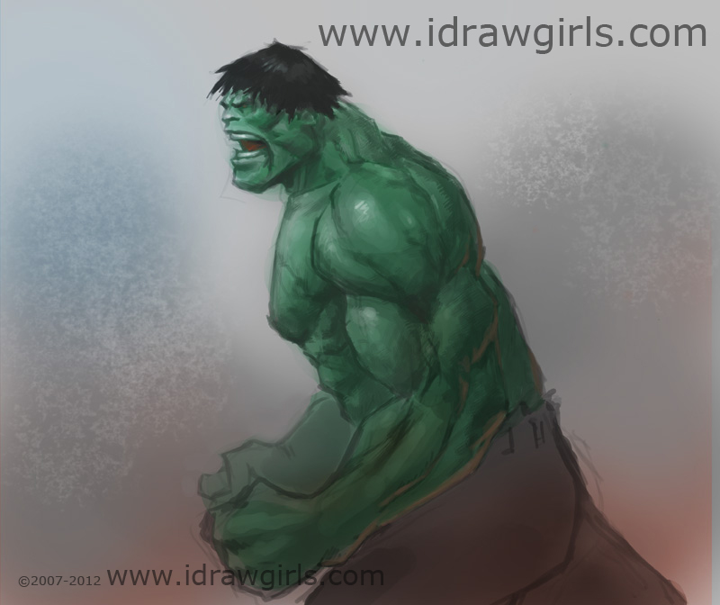 drawing hulk How to draw Hulk side view
