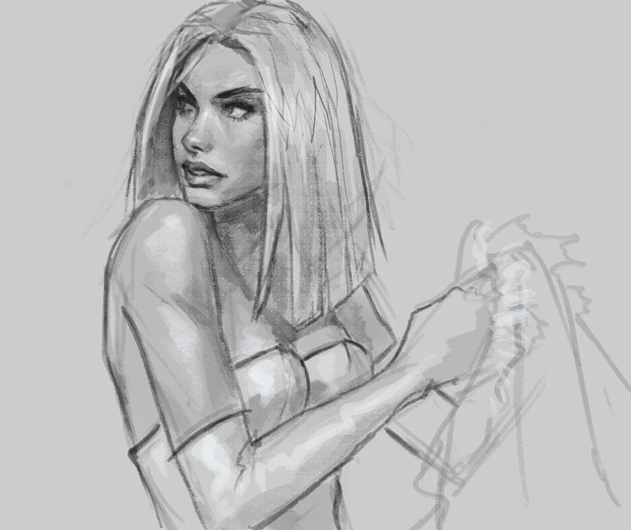 emma frost xmen sketch How to draw Emma Frost X men