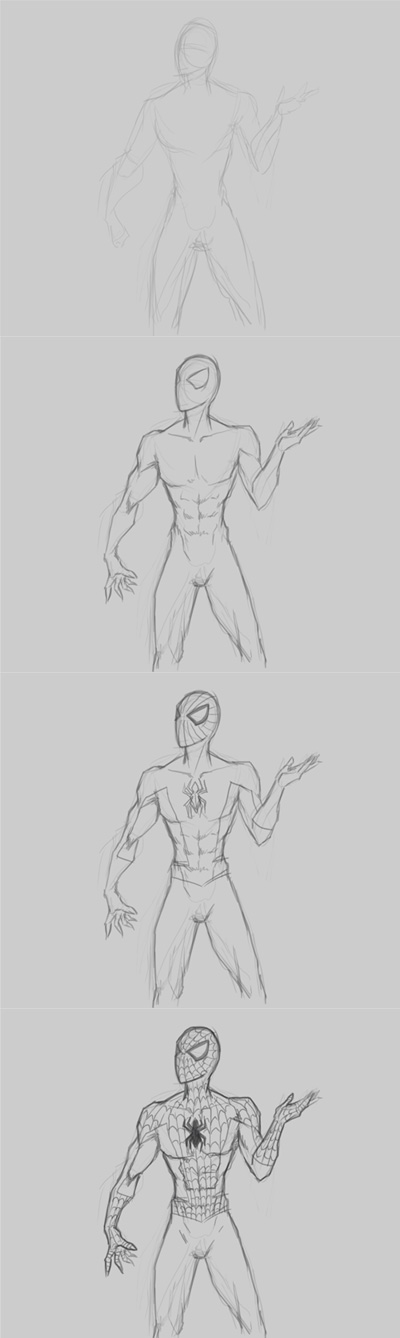 How to draw Marvel comics spiderman