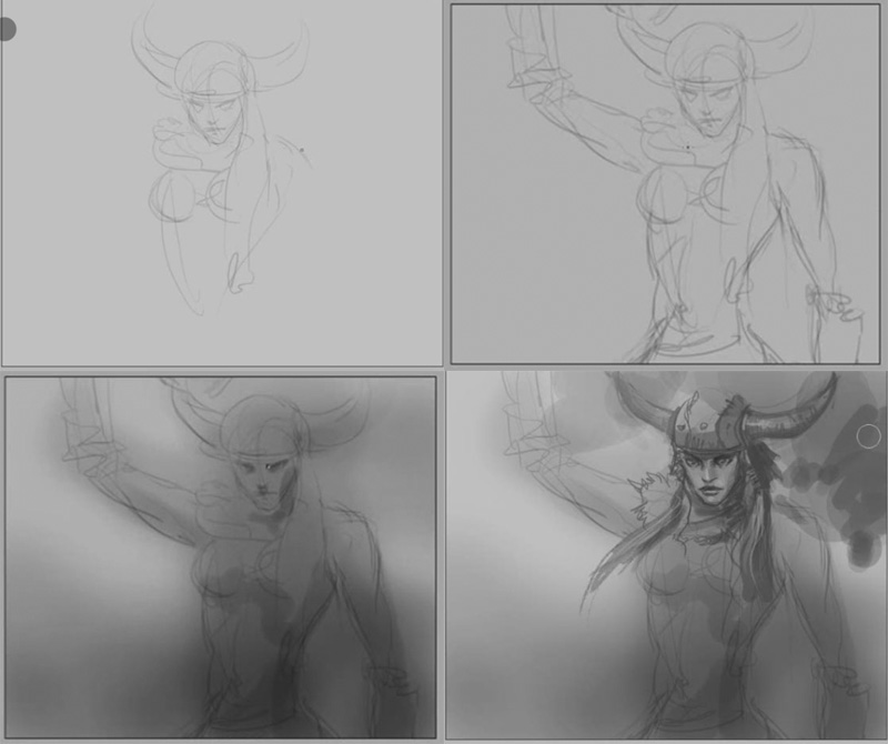how to draw viking warrior female How to draw Viking woman warrior