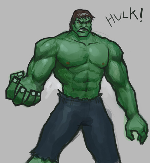 hulk drawing How to draw Hulk