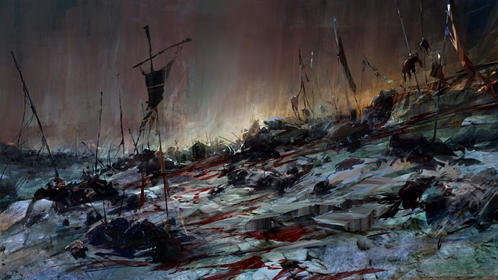 concept art richard anderson, ghost-battlefield