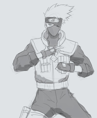 drawing naruto kakashi How to draw Kakashi from Naruto