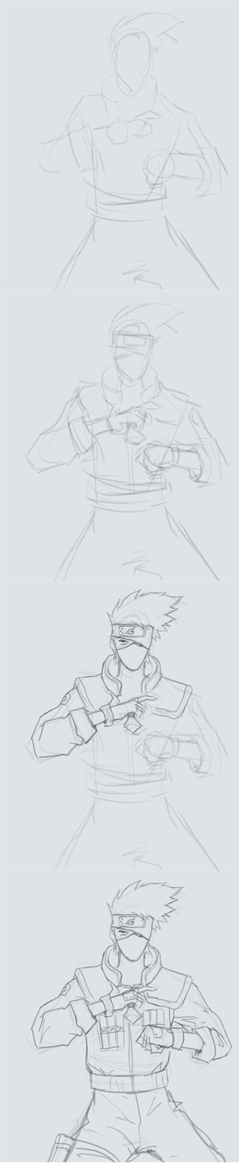 how to draw naruto kakashi How to draw Kakashi from Naruto