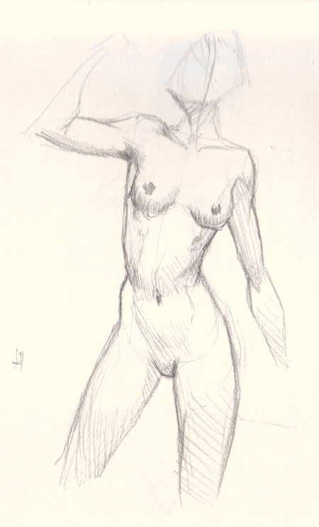 How to draw female figure