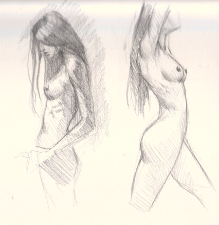 draw female figure study 03 Learn how to draw woman body side view