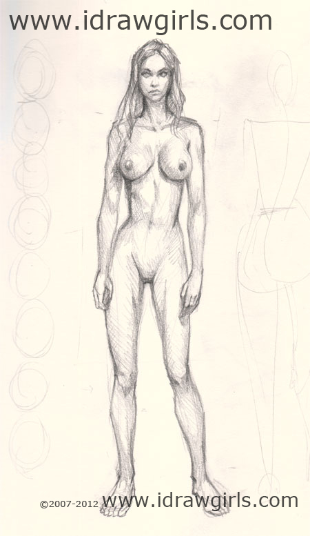 draw woman body front How to draw woman body basic