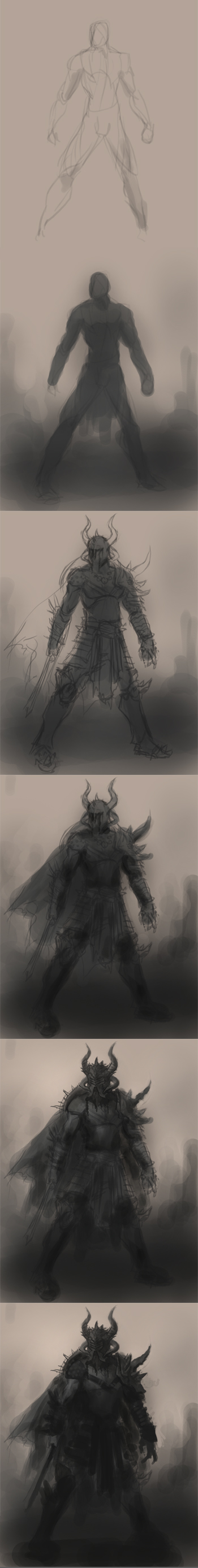 drawing barbarian warrior tutorial
