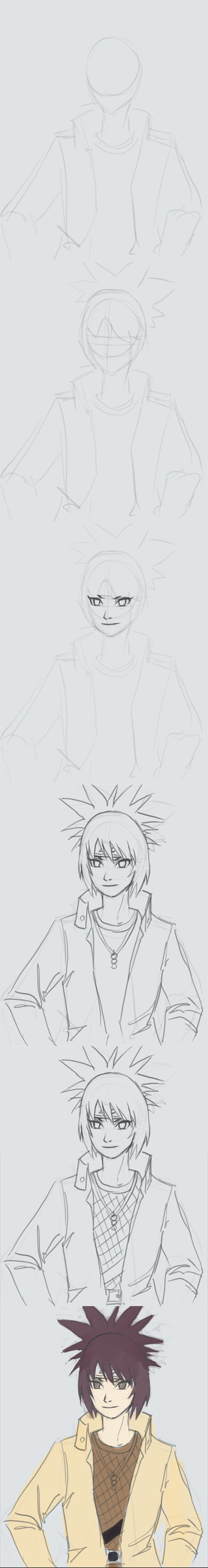 how to draw manga girl anko