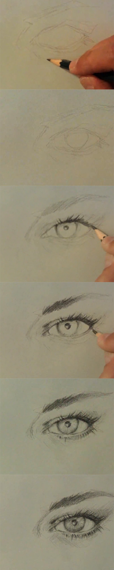 How to draw eye