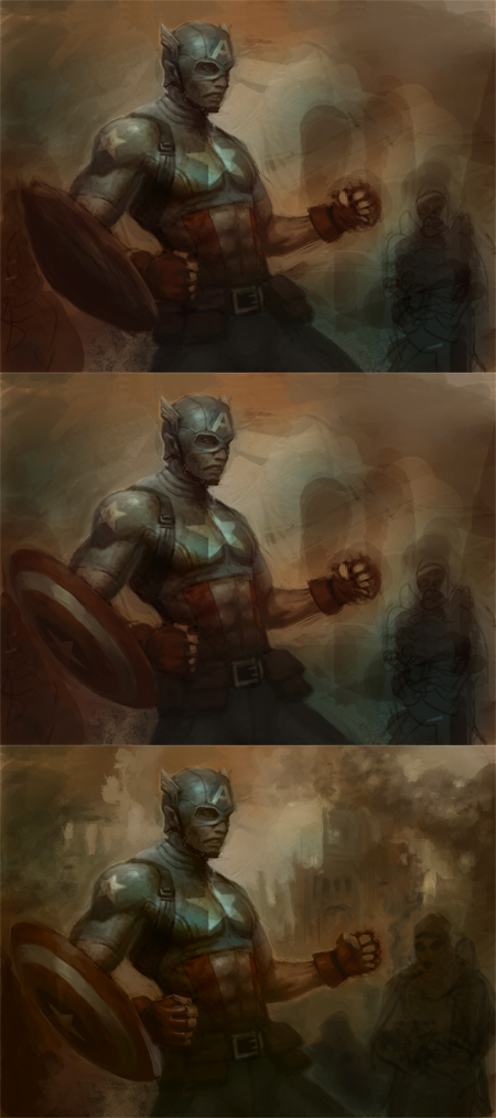 digital art tutorial superhero