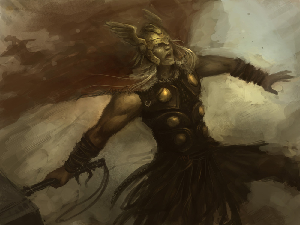 Thor digital painting lesson online