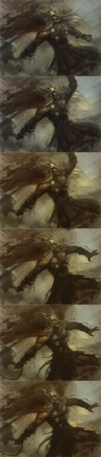 Thor digital painting tutorial