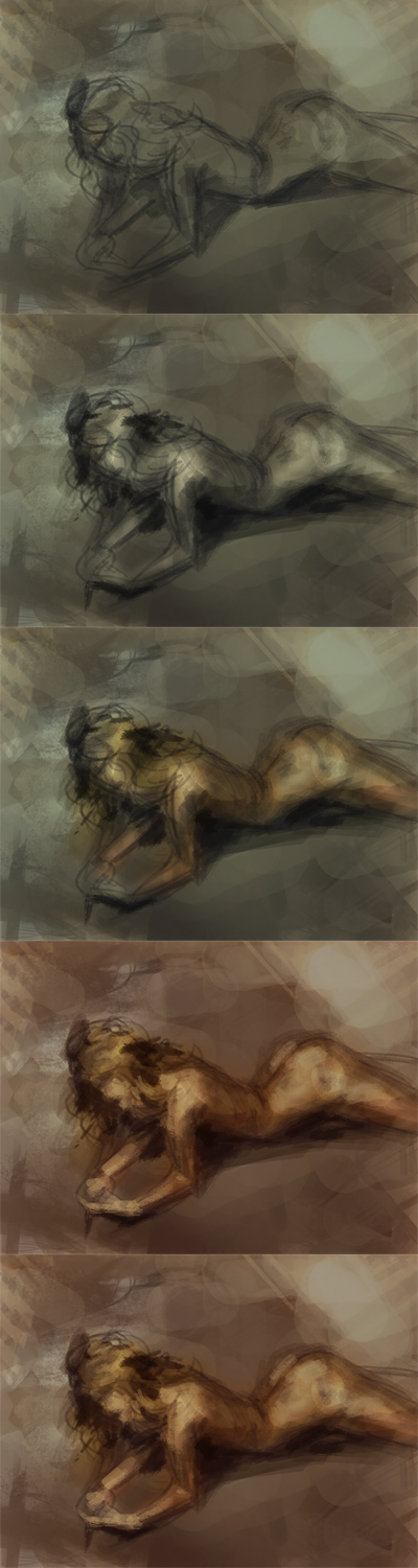how to draw nude female figure