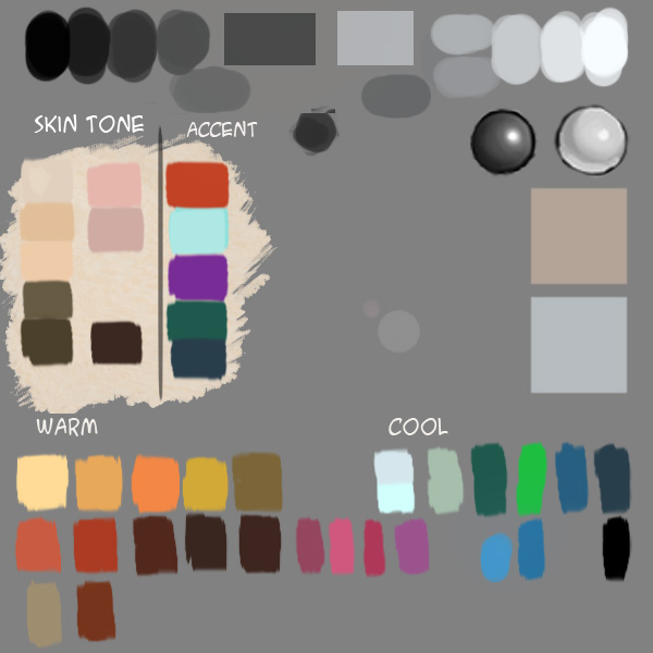 xia palette2010 Make custom color palette for digital painting.