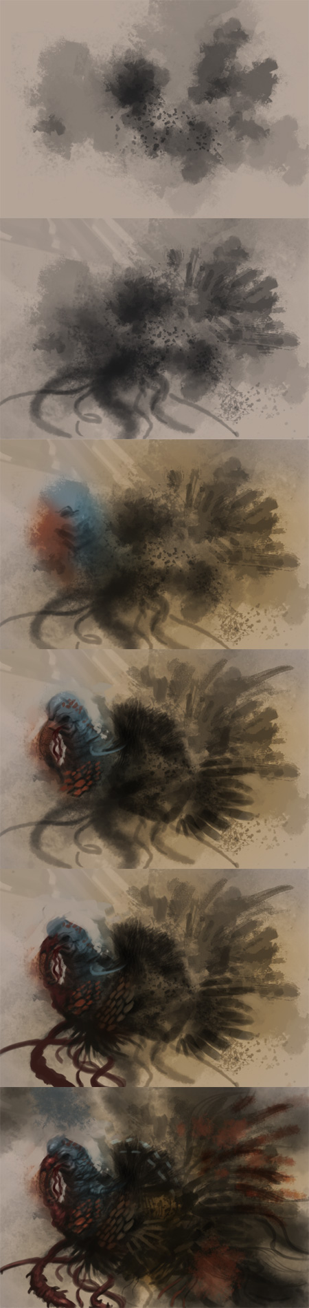 creature speedpainting step by step