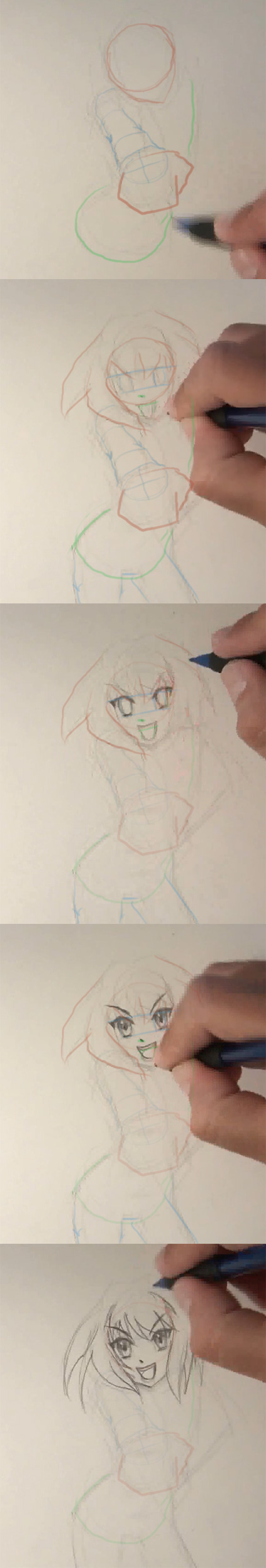 draw anime forshortening tutorial How to draw Anime Girl foreshortening hand