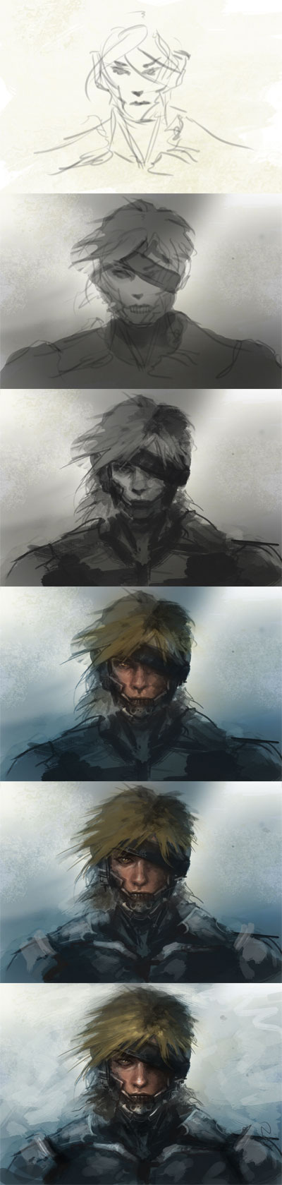How to draw Raiden Metal gear solid
