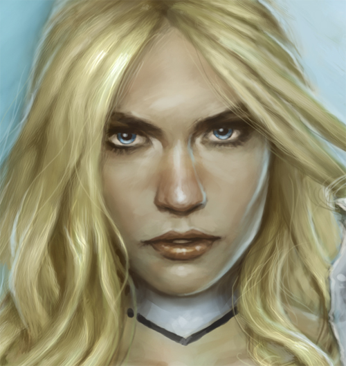 Emma Frost close up