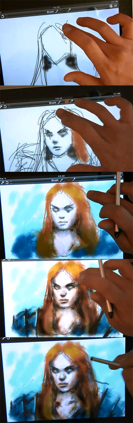 how to draw on ipad
