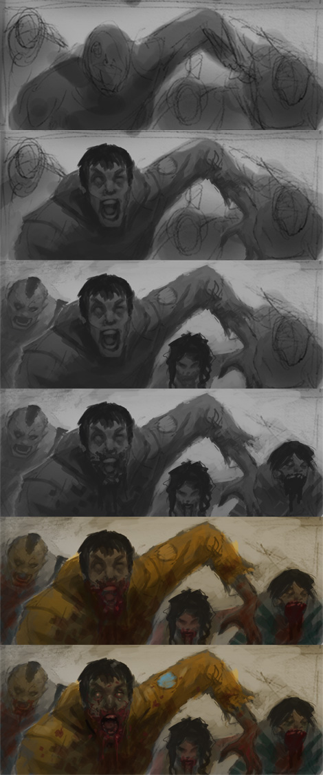 how to draw zombies How to draw Zombie horde in comics panel