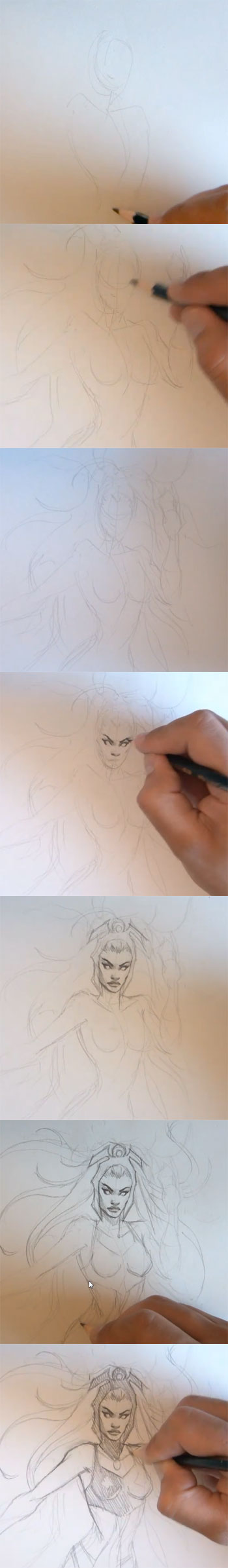 learn to draw marvel comics storm