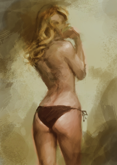 female figure back painting