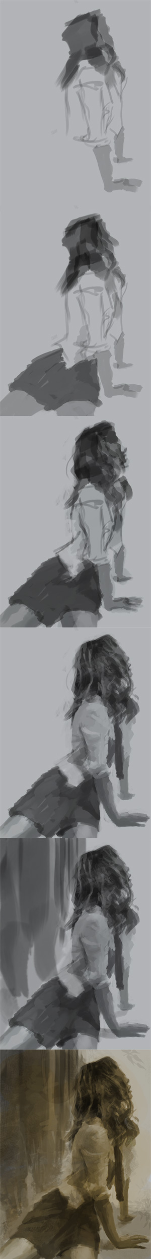 tonal values study Values tonal study female figure