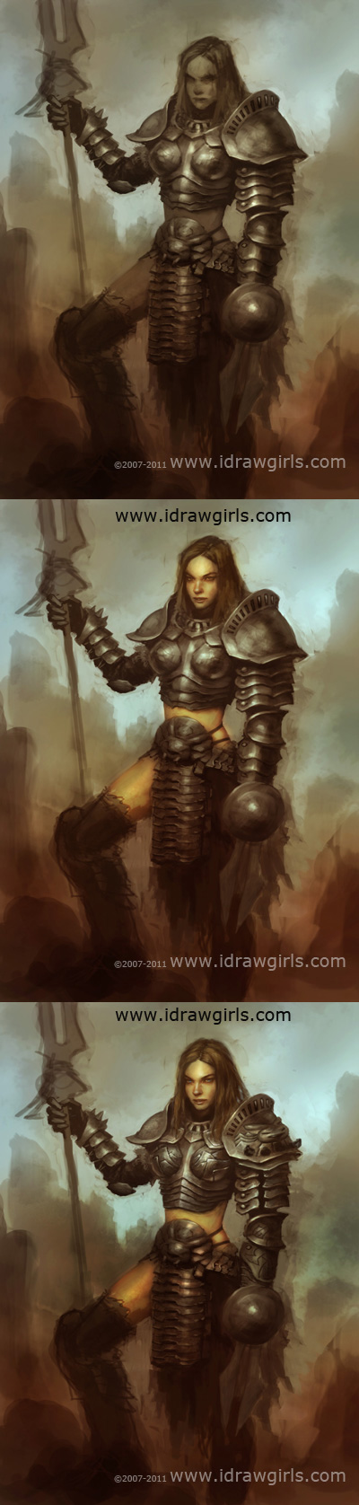 how to paint paladin character concept