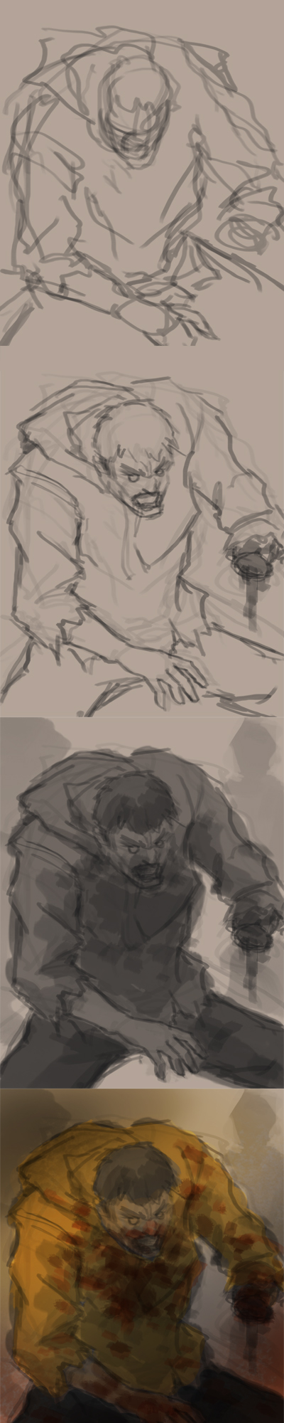 drawing zombie step by step