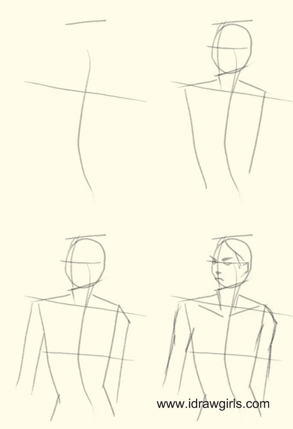 how to draw female figure step 1 How to draw woman upper body