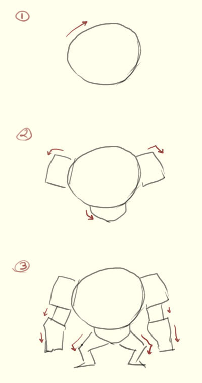 how to draw robot step1 How to draw basic robot