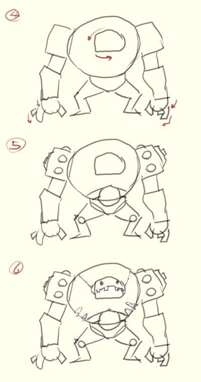 how to draw robot step2 How to draw basic robot