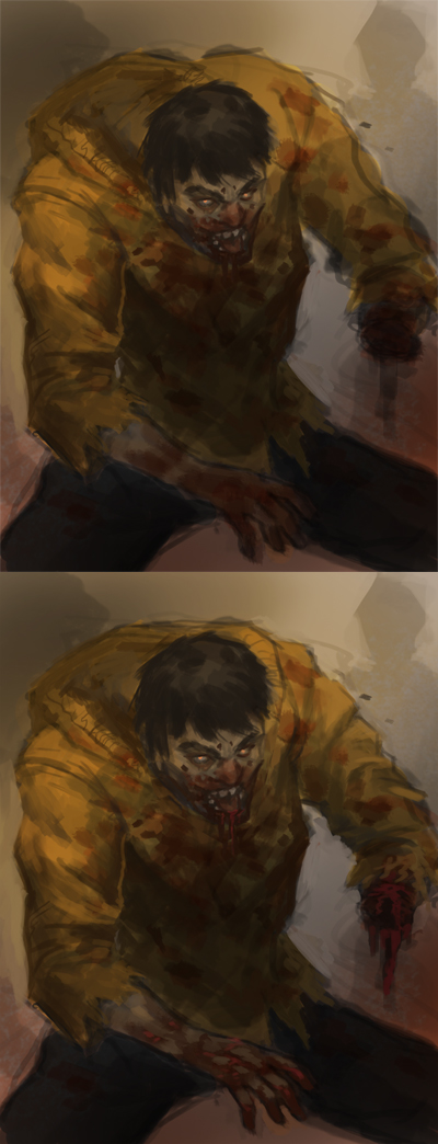 painting zombie step by step