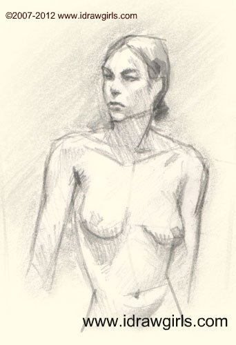 woman upper body drawing How to draw woman upper body