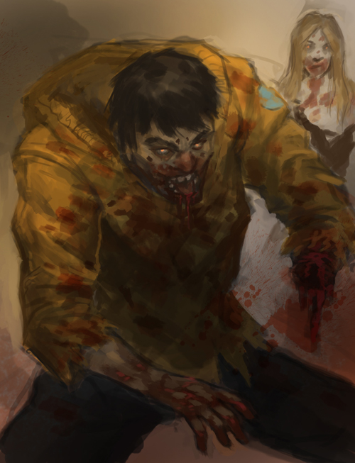 zombie speed painting Zombie digital painting tutorial