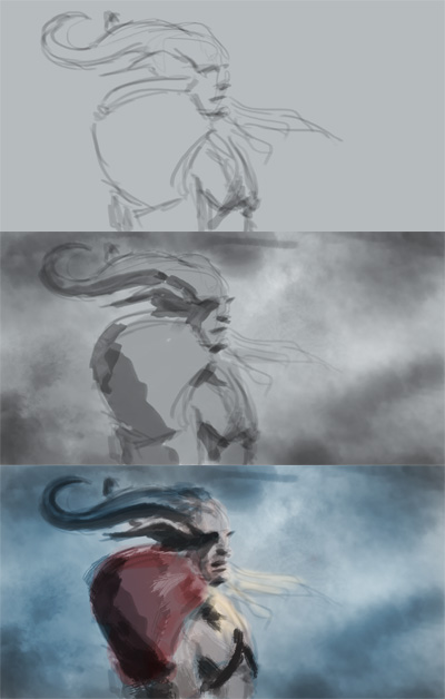 digital painting photoshop tutorial Dragon age 2 digital painting tutorial