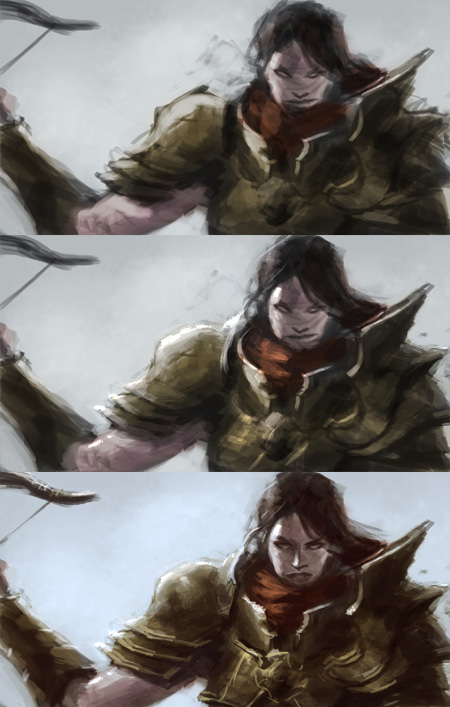 digital painting step by step demon hunter Diablo 3 demon hunter digital painting tutorial