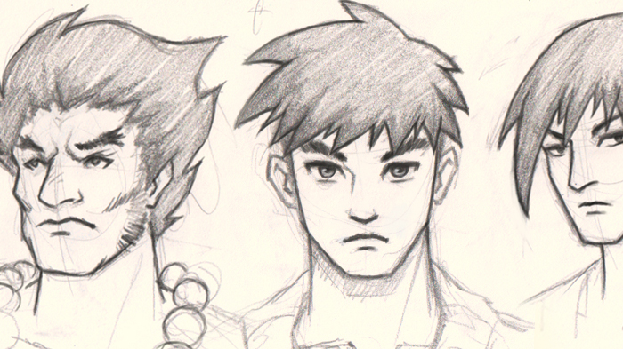 draw manga 3 different faces men How to draw Manga man face 3 different ways