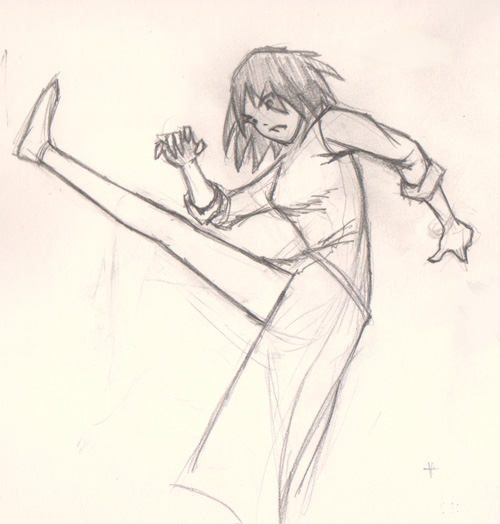 draw manga action pose kick How to draw Manga kick pose