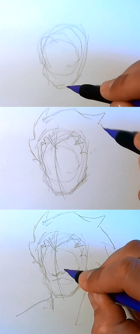 draw manga akuma face How to draw Manga man face 3 different ways