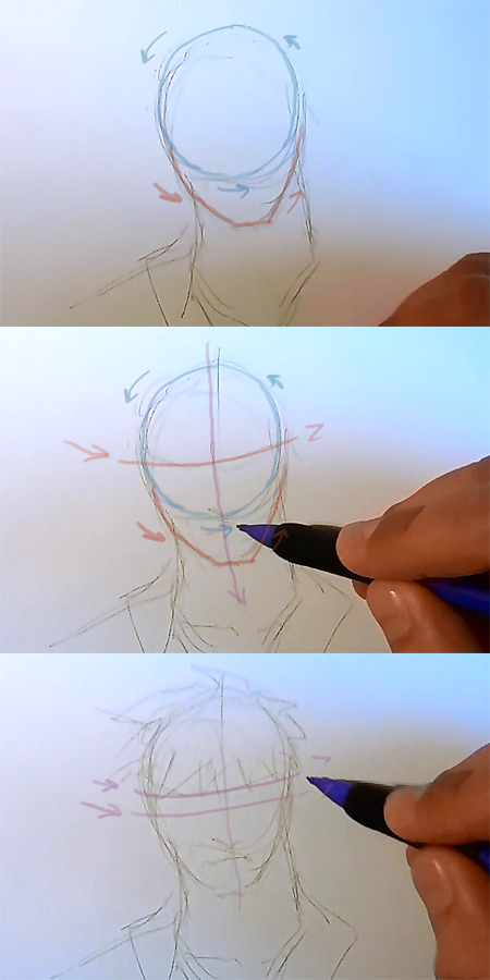 draw manga face man How to draw Manga man face 3 different ways