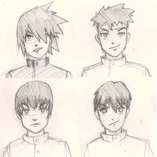 draw manga hair 4 ways guy Draw Manga man hair 4 different ways