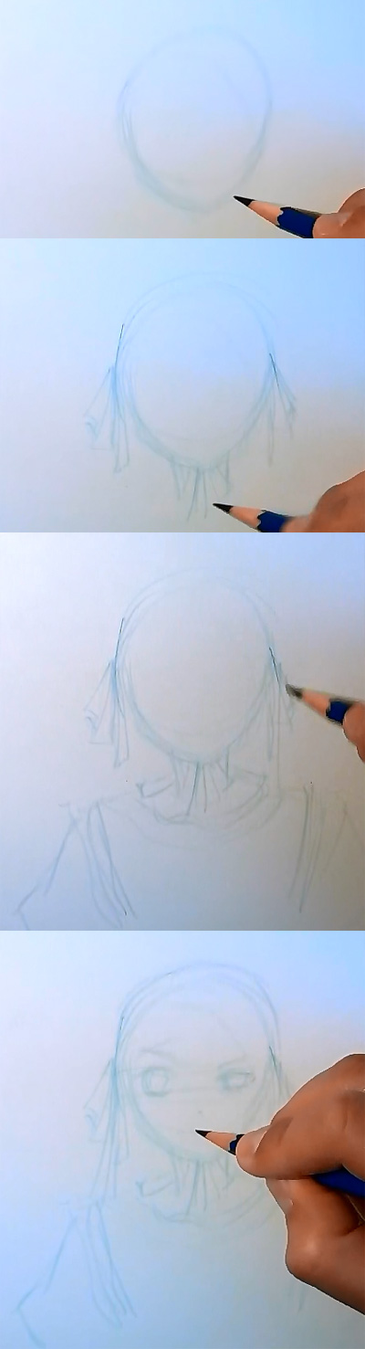 draw manga victorique gosick step 1 How to draw Manga Victorique