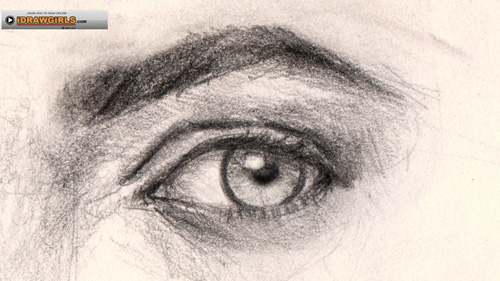 drawing eye quarter view How to draw eye three quarter view