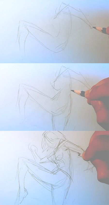 drawing manga kick How to draw Manga kick pose