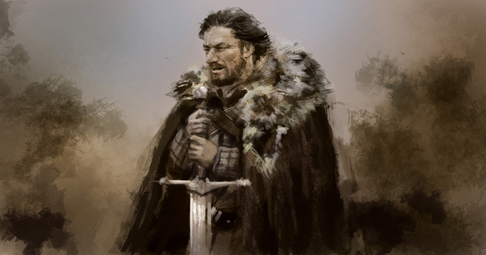 game of throne eddard stark Speedpainting tutorial Eddard Stark