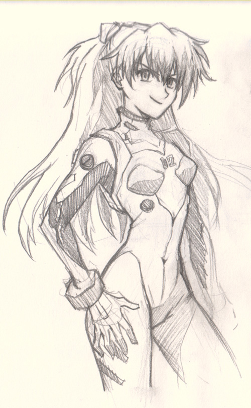 how to draw anime girl asuka eva How to draw Anime Asuka Evangelion