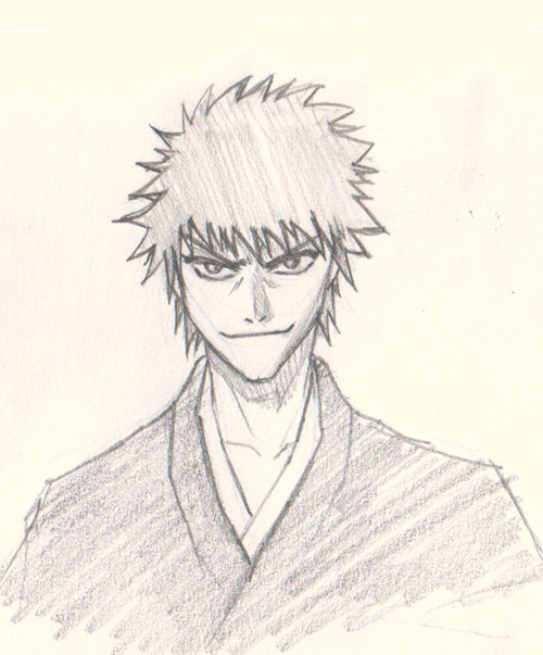 how to draw ichigo from bleach
