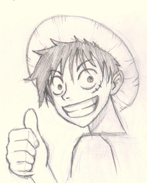 how to draw luffy one piece How to draw Luffy One Piece